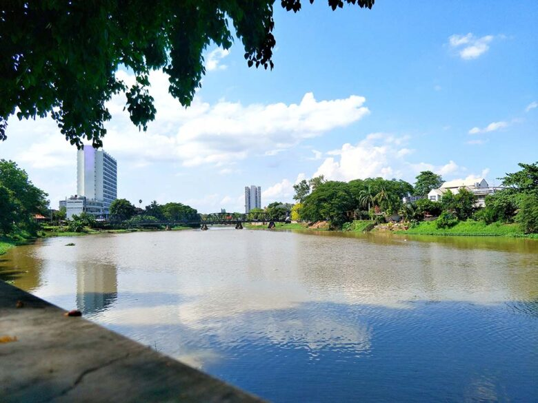 Riverside is one of the higher-end areas to stay in Chiang Mai