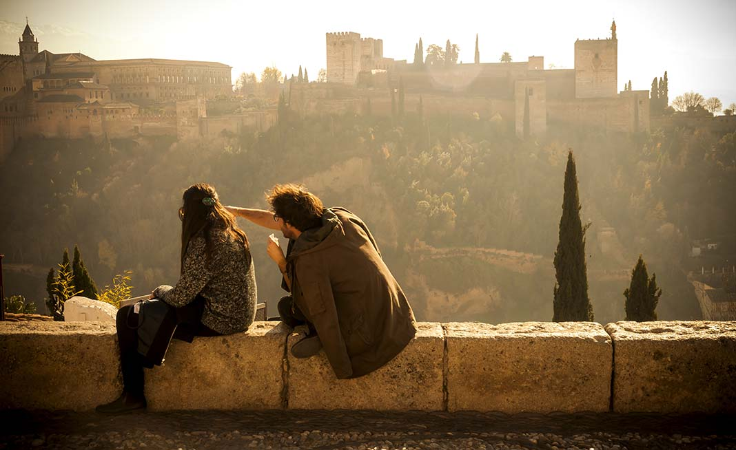 The Mirador de San Nicolas provides an incredible view of the city and the Alhambra