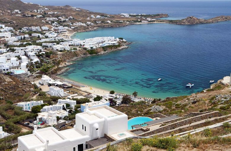 Platis Gialos has one of the best beach areas to stay in Mykonos.
