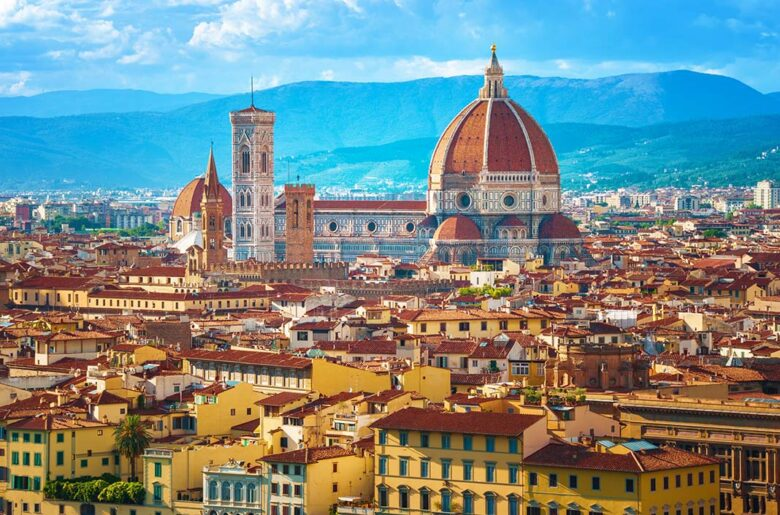 Piazzale Michelangelo square, one of the most breathtaking views of Florence