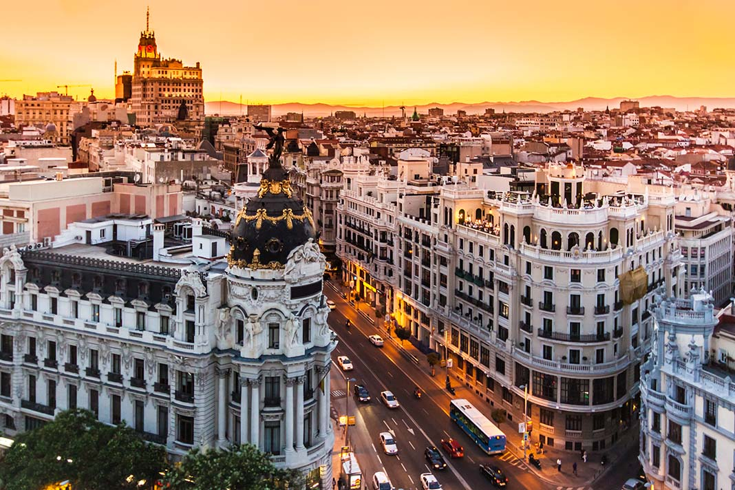 Plaza Españ and Gran Via area is definitely one of the best places to stay in Madrid.