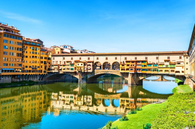 Ponte Vecchio is the famous bridge in Florence to visit