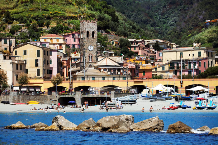 Stay in Cinque Terre: Monterosso also offers spectacular beaches.