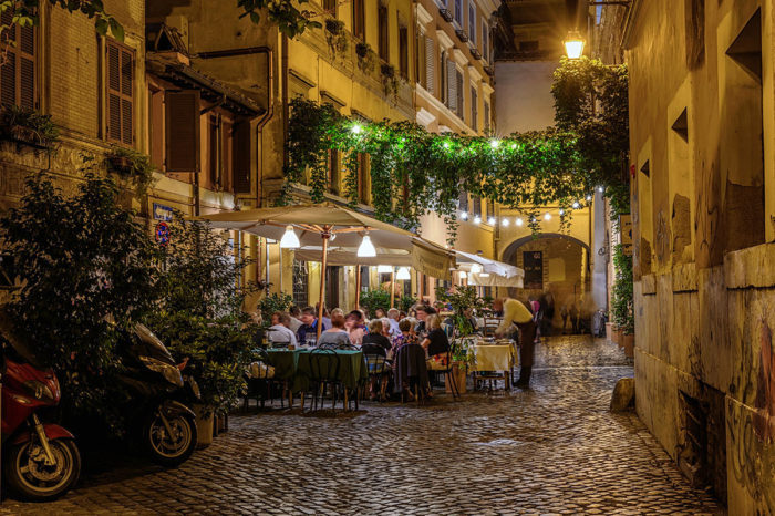 Trastevere, best area to stay in rome for nightlife