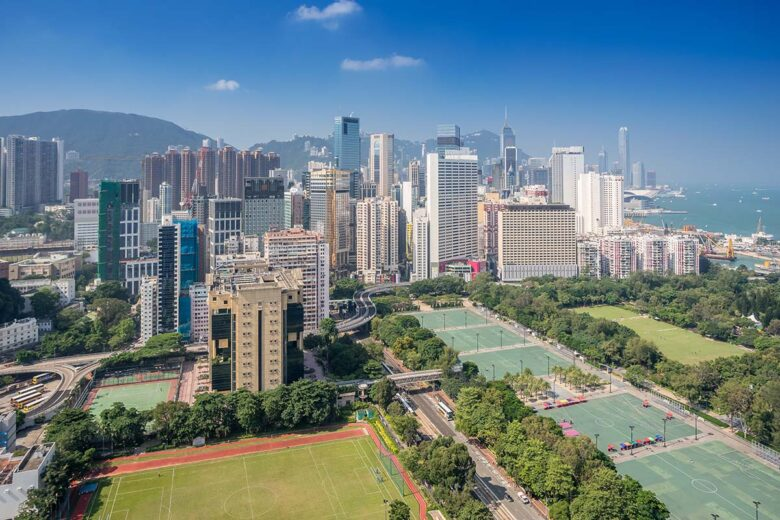 Causeway Bay is a highly developed area to stay in Hong Kong