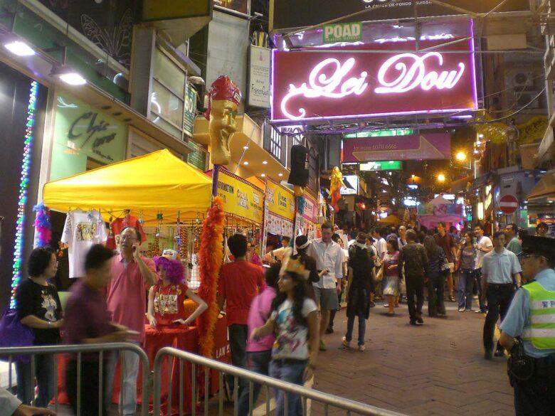 Visit to Lan Kwai Fong in Hong Kong