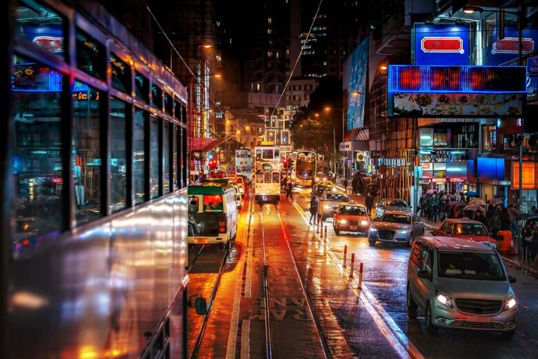 Tour on the narrow trams: one of the best things to do in Hong Kong