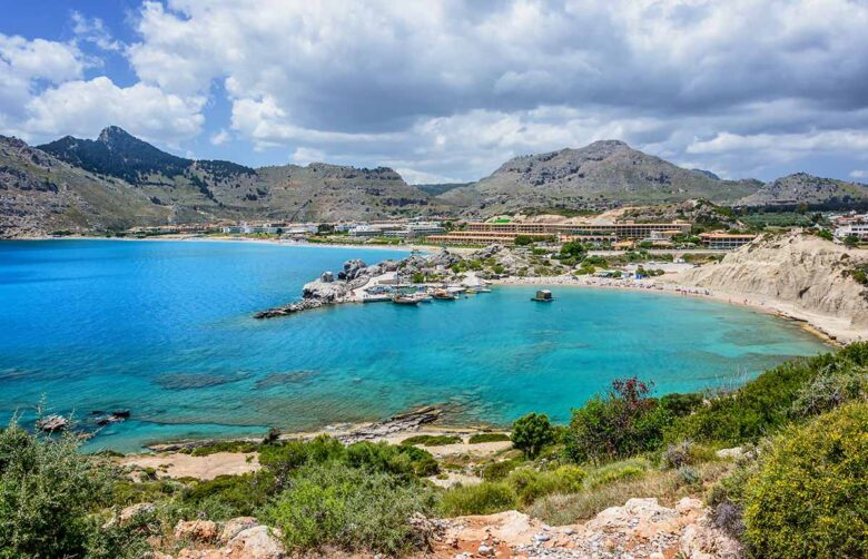 Kolymbia, popular with couples, families and seniors