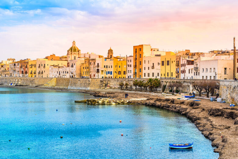 Trapani, charming old town and gateway to Aegadian Islands