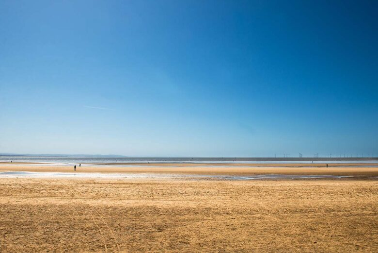 Crosby Beach, where to stay in Liverpool by the Beach
