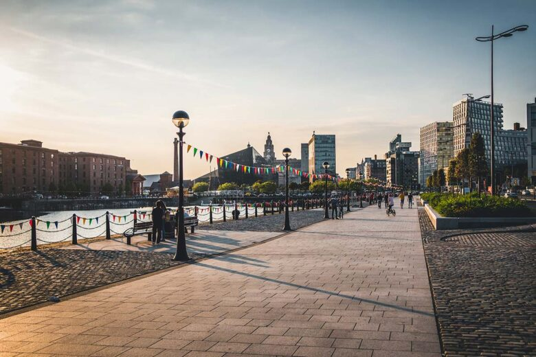 Albert Dock, good area to stay in Liverpool