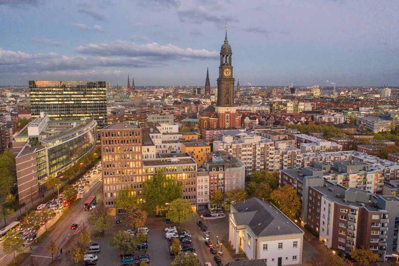 Neustadt, central upmarket area to stay in Hamburg