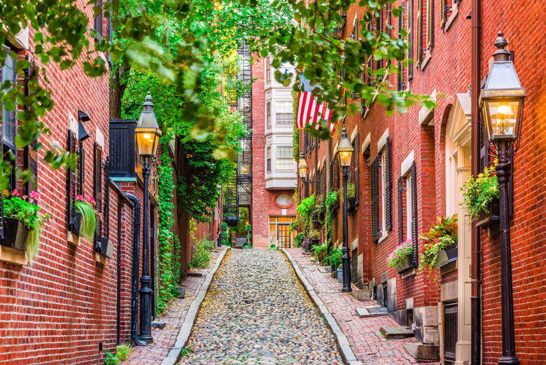 Beacon Hill, upscale and expensive place to stay in Boston
